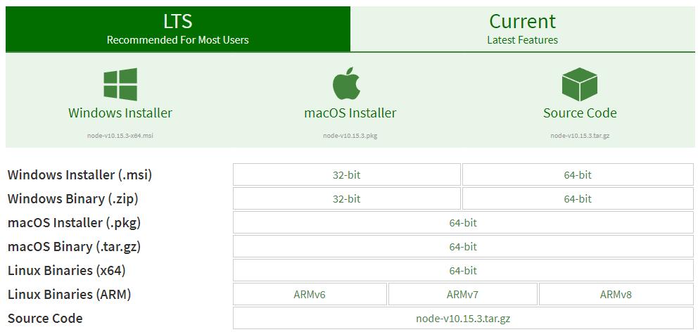 download screen node js