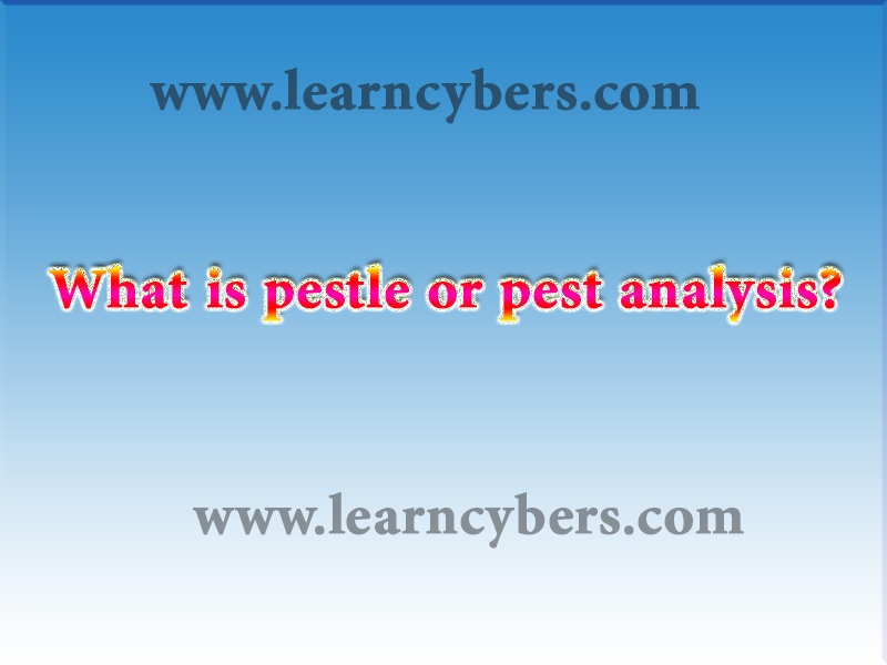 Pestle or pest analysis 6 dynamic factors