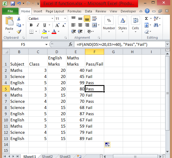 Excel-If-functions