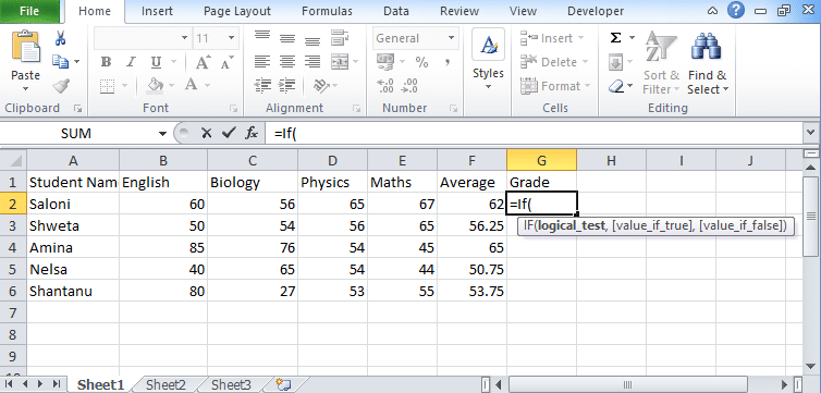 Excel Logical Test Using Multiple If Statements [OR/AND]