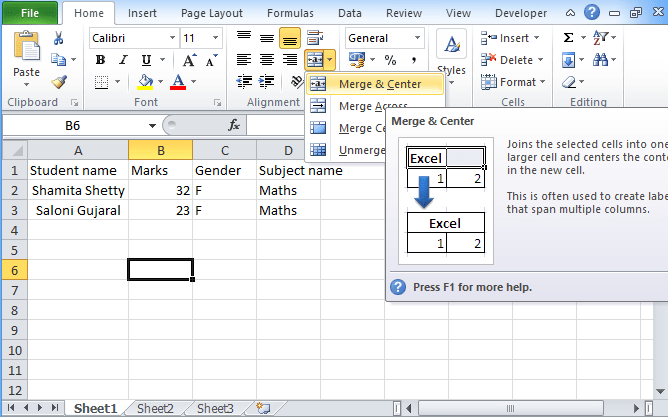How to merge cells in excel [Shrink to Fit / Wrap Text]