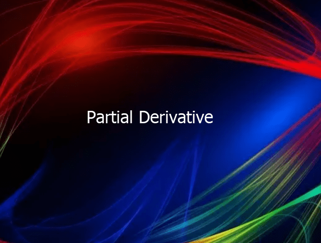 Partial Derivative