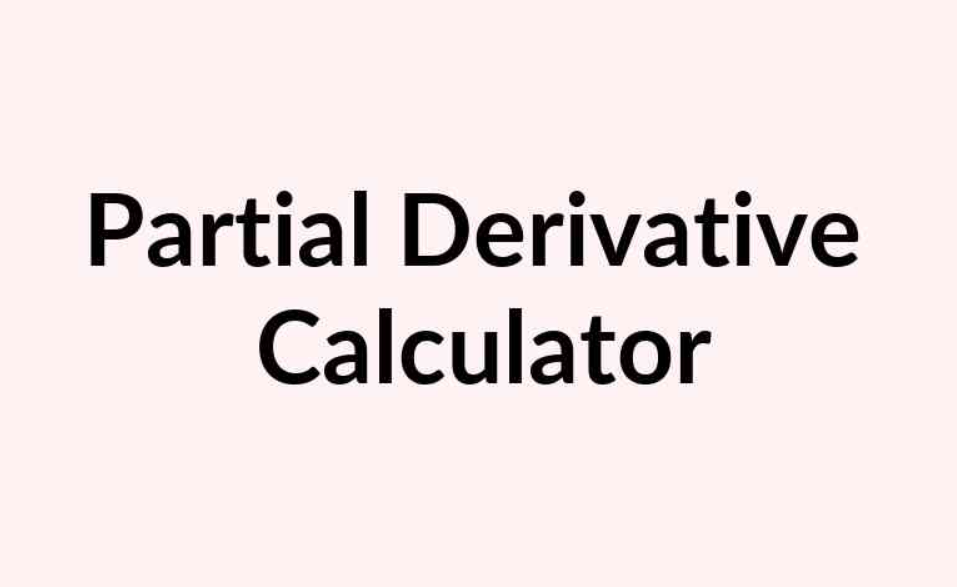 Partial Derivative Calculator