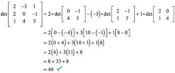 determinant calculator 3