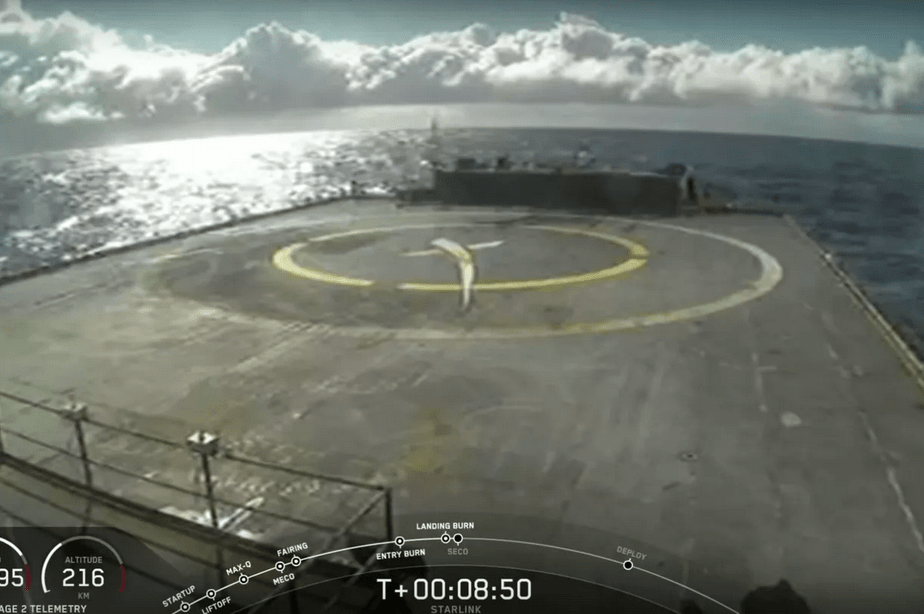 SpaceX 's Falcon 9 missed landing after successful Starlink launch